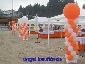 coluna de balões festa continental mabor