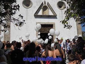 largada de balões em casamento