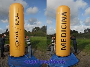 insufláveis publicitários cilindro