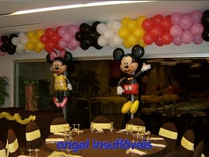 balões tema mickey e minnie