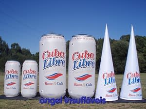 insufláveis publicitários cuba libre