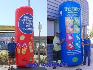 insufláveis publicitários cilindros