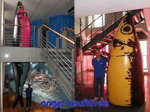 insufláveis publicitários sardinhas gigantes