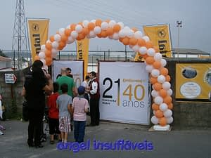 arco de balões festa continental mabor