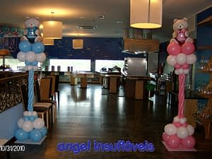 coluna de balões tema ursos