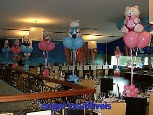 arranjos de balões tema ursos