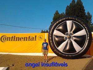 insufláveis publicitários pneu continental