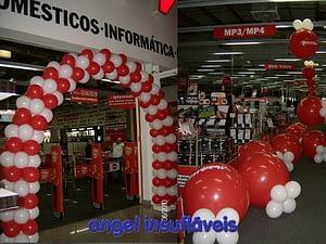 arco de balões media markt