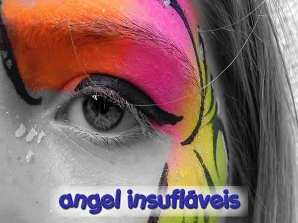 inicio angel insuflaveis animação com pinturas faciais para festas infantis